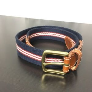 "Fabric/Leather 34"" belt"